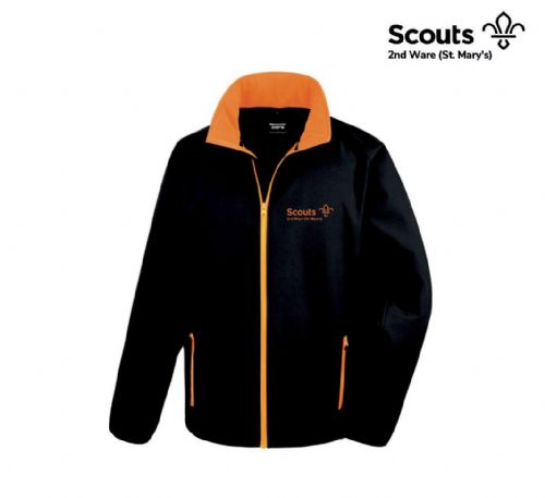 2nd Ware Scouts Black/Orange Softshell